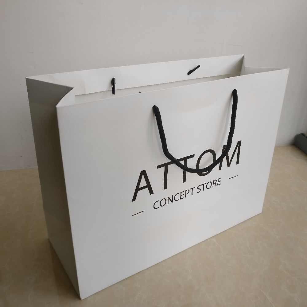 Wholesale custom luxury paper shopping bags with handle custom printing your own logo bags  90183